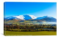 Snow on Skiddaw and Ullock Pike, Canvas Print