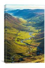 Longsleddale from Steel Rigg , Canvas Print