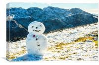 Snowman on Great Gable, Canvas Print