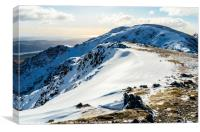 Winter on Great How Crags, Canvas Print