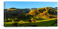Mickleden, Crinkle Crags, and Bowfell, Canvas Print
