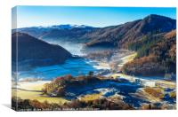 Thirlmere from High Rigg, Canvas Print