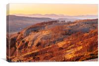 Whitbarrow Scar, winter evening , Canvas Print