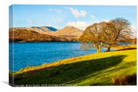 Coniston Water, Dow Crag and Coniston Old Man, Canvas Print