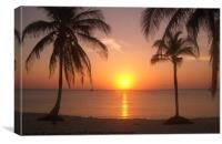 Cuban Sunset, Canvas Print