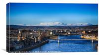 Spectacular cityscape in Inverness, Canvas Print