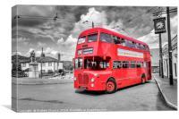 Midland Red bus, Canvas Print