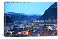 Gorgeous Predazzo, Italy cityscape in the evening , Canvas Print