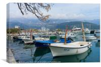 Bay of Budva, Montenegro, Canvas Print