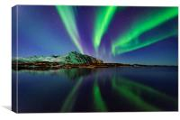 Northern lights in Lofoten, Canvas Print