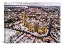 Beverley Minster in the Snow, Canvas Print