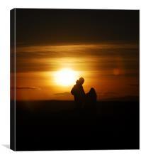 Sunset couple, Canvas Print