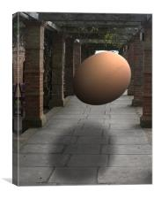 Floating Egg, Canvas Print