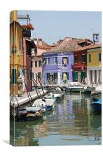 Streets of Burano, Canvas Print