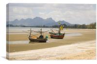 Thai Fishing Boats, Canvas Print