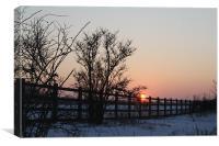 Sunset in Suffolk, Canvas Print