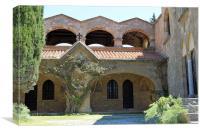 The Monastery of Filerimos, Canvas Print