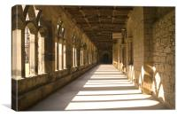Durham Cathedral Cloisters, Canvas Print