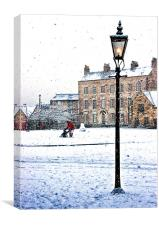 Palace Green In The Snow, Canvas Print