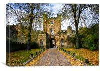 Durham Castle in the Autumn, Canvas Print