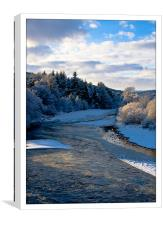 Ice on the River Dee, Canvas Print