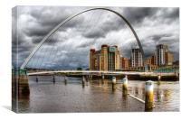 Millennium Bridge, Canvas Print