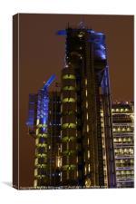 Lloyds Tower at Night, Canvas Print