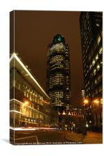Tower 42 at Night, Canvas Print