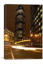 Tower 42 at Night, Canvas Print