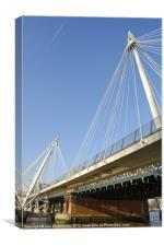 Golden Jubilee Bridge, Canvas Print