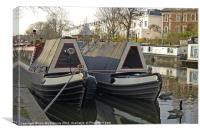 Canal Boats, Canvas Print