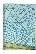 British Museum Roof, Canvas Print