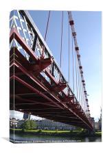 South Portland Street Suspension Bridge, Canvas Print