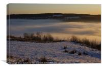 Mist Below Campsie Glen, Canvas Print