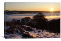 Sunset at Campsie Glen, Canvas Print
