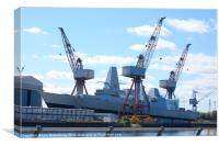 Glasgow Shipyard, Canvas Print