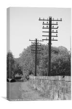 Telegraph Poles, Canvas Print