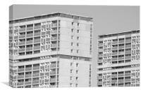 Tower Blocks, Canvas Print