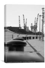 Shipyard Cranes, Canvas Print