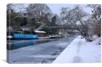 Regent''s Canal in Winter, Canvas Print