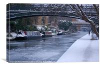 Regents Canal in Winter, Canvas Print