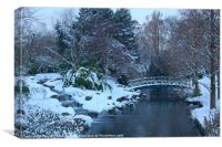 Regent''s Park in Winter, Canvas Print
