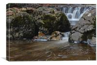 Campsie Waterfall 12, Canvas Print