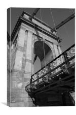 South Portland Street Suspension Bridge, Canvas Print