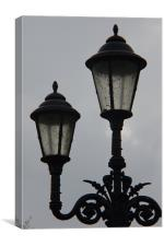 Twin Lamp Post 2, Canvas Print