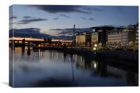 Glasgow Sunset, Canvas Print