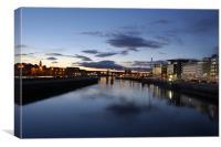 Glasgow Sunset, Canvas Print