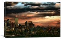 Denver by twilight, Canvas Print
