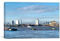 London from Greenwich, Canvas Print