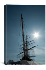 The Cutty Sark Masts, Canvas Print